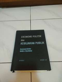 Buku Ekonomi Politik dan Kebijakan Publik