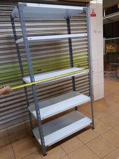 Metal rack / shelf. 5 tiers white grey