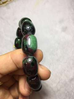 Epidote 红绿宝 bracelet 60gram, 16mmx6mm bead size, 57mm inner diameter