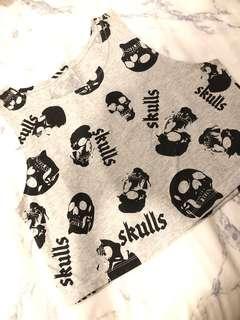 Skull tank crop top