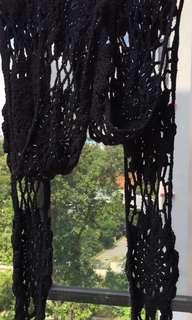 SISLEY Hand knitted Crochet Scarf (L 285cm)