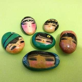 卵石繪畫面譜