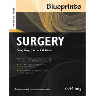 Blueprints Surgery 5th Fifth Edition by Seth J. Karp, James P.G. Morris - Lippincott Williams & Wilkins