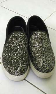 Black Shining Covered Shoes