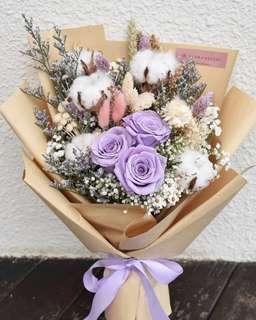 Everlasting Fleur Bouquet (PURPLE) SOLD OUT
