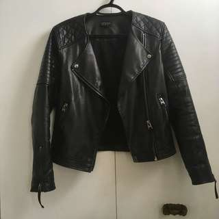Topshop faux leather jacket size 4