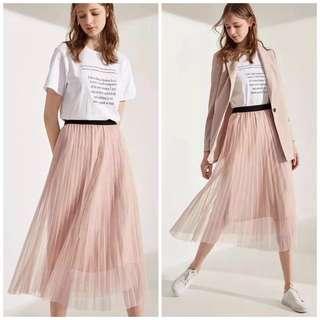 🚚 OshareGirl 05 歐美女士純色紗裙半身裙