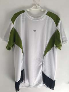 New Balance Green & White Dri Fit Shirt