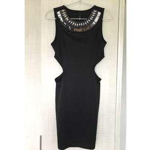 Bodycon Black Cutout Dress