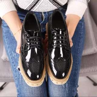 限時特價 可議價 韓版厚底鬆糕鞋