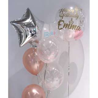 24'' Customised Balloon with Side Balloon Bouquet