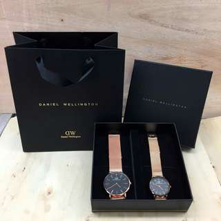 Dw Couple Gold Black (Premium Quality)