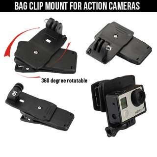 GoPro 360 rotatable Bag Clip Mount