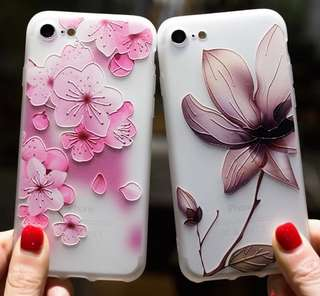 Fashion Flower Relief Silicone Cases