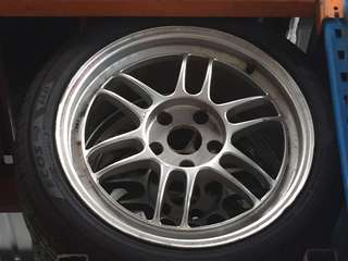 Enkei rpf1 with tyre (17x5hole)(7.5jj-offset48)