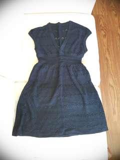 Black seater dress