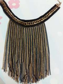 Nacklace black&gold