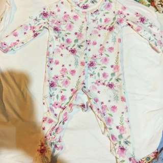 4 pieces Mothercare & Kiko baby cute rompers