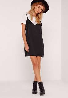 Petite T-shirt Insert Cami Dress