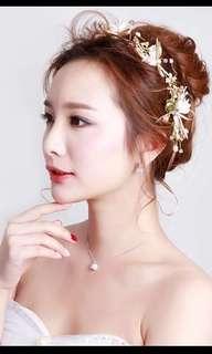 Wedding 新娘 結婚 花環 頭飾 headpiece