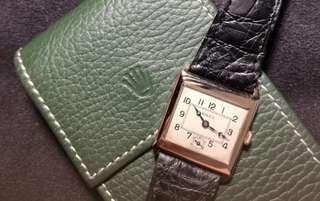 🚚 1930's Rolex Prima 9k Rose Gold Wristwatch