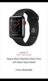 Apple Watch series 3 (space black)