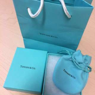 Tiffanies box, pounce and bag