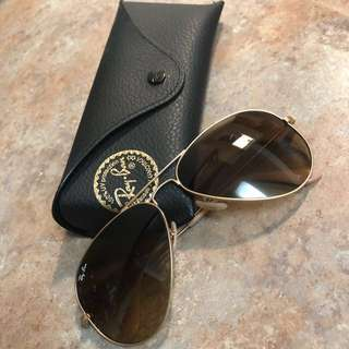 Beige Ray Ban Sunglasses