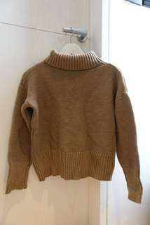 Khaki Knitted Winter Pullover