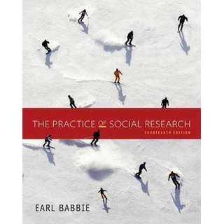 The Practice of Social Research by Earl Babbiw (14th edition) SC2101