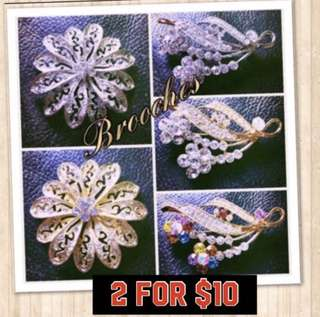 2 for $10 Korean Brooches