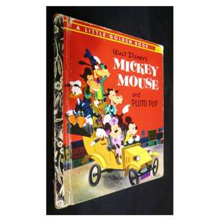 Walt Disney's Mickey Mouse and Pluto Pup Book (Little Golden Books)