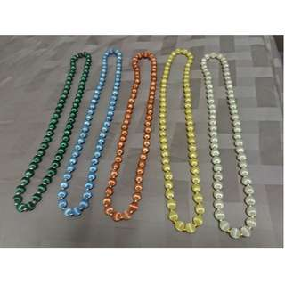 silk-thread covered bead necklaces (individual sale or lot)