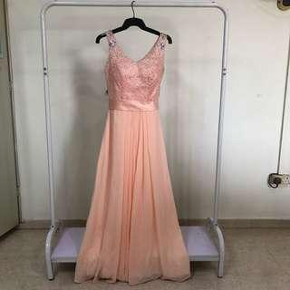 Peach Evening Gown