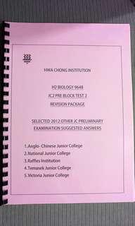 JC Year 2012 H2 Biology Prelim Answers