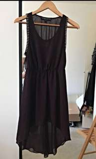 Topshop studded asymmetrical dress