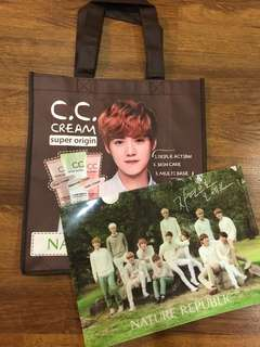 NR Luhan official recycle bag & NR EXO official file