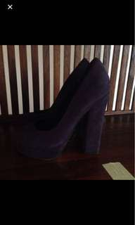 Aldo suede chunky heels