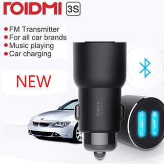 Xiaomi ROIDMI 3S Car Bluetooth FM Transmitter MP3 Player Dual USB Charger NEW BFQ04RM Music