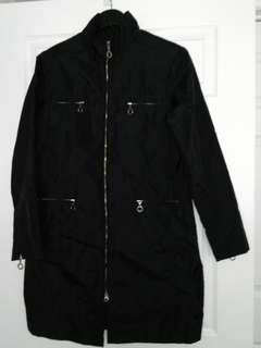 Long waterproof light jacket, size M