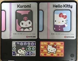 MTR x Hello Kitty & Kuromi 紀念車票