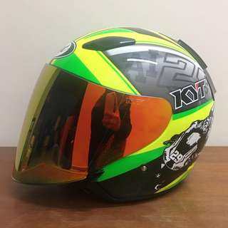 Preloved KYT Helmet DJ Maru Se World GP Ready