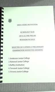 JC Year 2013 H2 Biology Prelim Answers