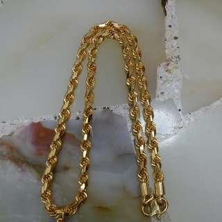 916 Gold Rope Chain 22K-916
