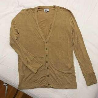🚚 [final price] Galoop 卡其色嫘縈針織衫