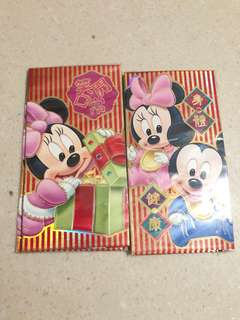 Mickey Minnie Mouse Red Packets Angbao