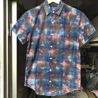 🚚 [final price] Topman 藍色渲染格紋襯衫