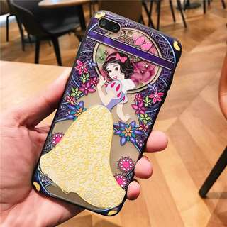 Embossed Silicon Case for iPhone 6-X
