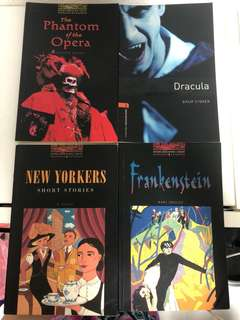 The Phantom of the Opera, Dracula, New Yorkers, Frankenstein by Oxford Bookworms Library