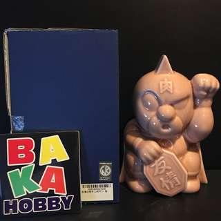 筋肉人 友情 肉色 陶瓷 招財貓 日本製造 約18cm高